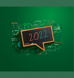 2022 new year business success strategy plan idea vector