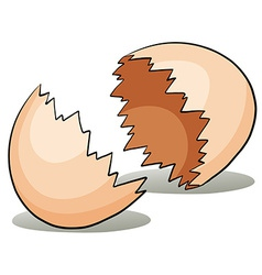 A crack eggshell vector