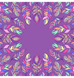 Abstract colorful feathers vector
