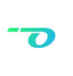 abstract letter o tecnology logo design vector image