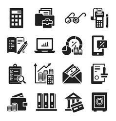 accounting international day icon set simple vector image