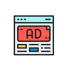ad advertisement media marketing flat vector image