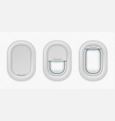 Airplane windows realistic aircraft porthole vector