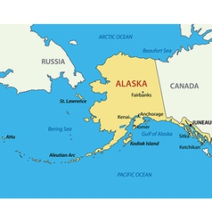 Alaska - map vector