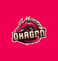 Awesome dragon logo vector