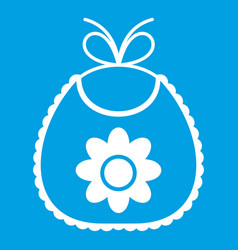 Baby bib icon white vector