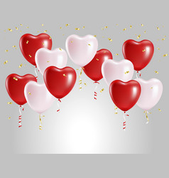 balloons in form hearts vector image