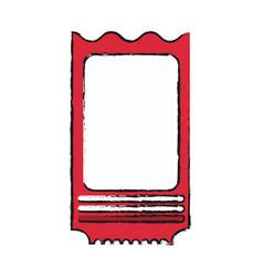 Blank ticket icon image vector