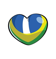 Brazilian heart color sample vector