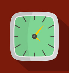 clock wall icon flat style vector image