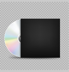 compact disc black cover transparent vector image