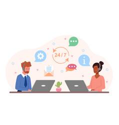 customer service concept vector image