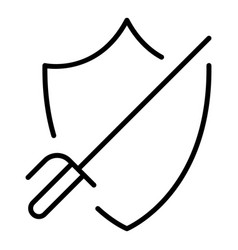 Defence fencing icon outline style vector