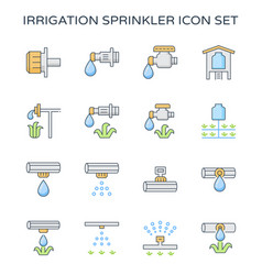 Drip irrigation icon vector