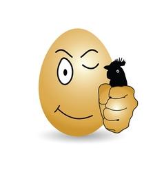 Egg cartoon happy vector