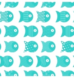 Fish seamless pattern for fabric textile design vector