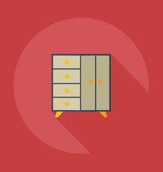 Flat modern design with shadow icons chest vector