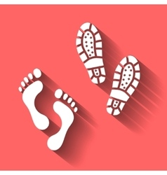 Foot human footprint bootprint isolated vector