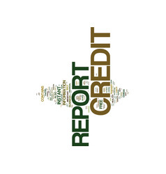 Free instant credit report text background word vector