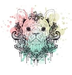 French bulldog graphic dog abstract vector image