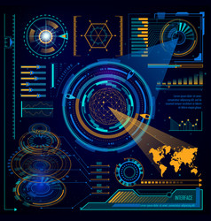 futuristic digital interface touchscreen computer vector image