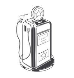 Gasoline station pump vector