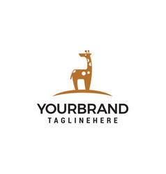 Giraffe cute logo design concept template vector