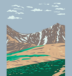 grays peak and torreys peak in continental vector image