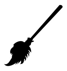 Halloween creepy scary witches broomstick symbol vector
