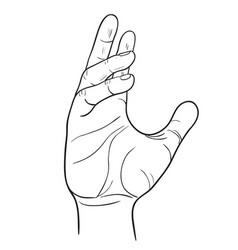 hand with thumb finger symbol hands vector image