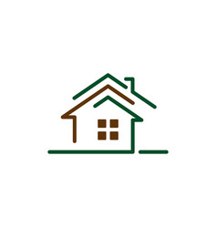 home line art vector image