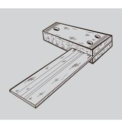 It is monochrome of building corner vector