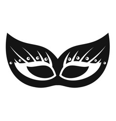 italian festive mask icon simple style vector image