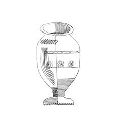 Jug hand-drawn style grunge vector image