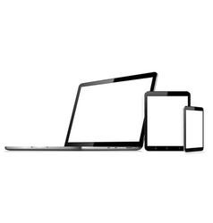 Laptop tablet smartphone mock up vector