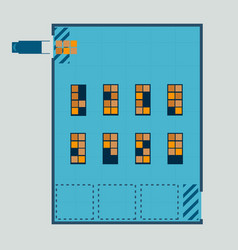 layout of warehouse from top view vector image