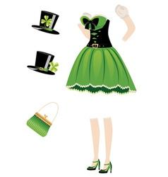 Leprechaun girl dress vector