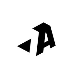 Letter a with negative space vector