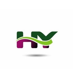 Letter H and Y monogram logo vector image