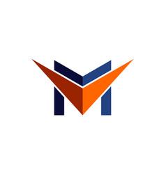 letter m arrow logo icon vector image