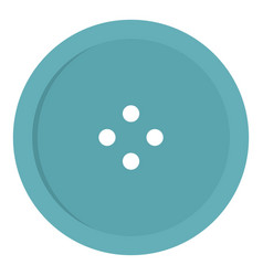 Light blue sewing button icon isolated vector