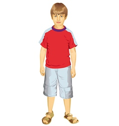 Little Boy Standing vector
