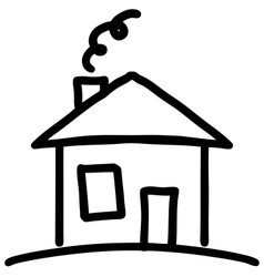Little cartoon house vector image