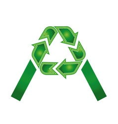 logo with alphabet A vector image