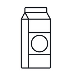 milk in a bag in line style isolated vector image