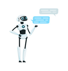 Modern humanoid or robotic device with iron limbs vector