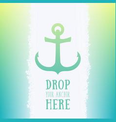 nautical anchor icon logo element vector image