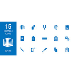 Note icons vector