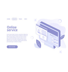 online stream or video hosting service landing vector image