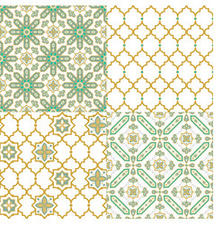 Oriental arabic seamless pattern traditional vector
